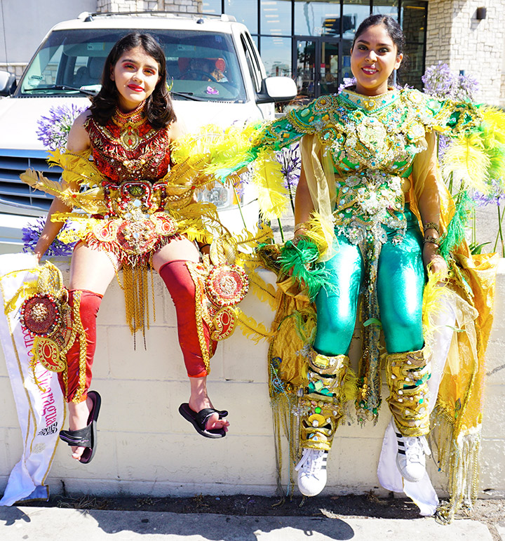 Resting before Hollywood Carnival Parade, Teen CW Nicaragua and Mexico, 06/29/19