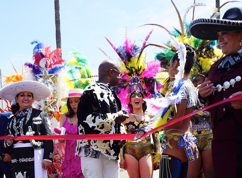 Before Hollywood Carnival Parade, Ribbon Cutting Grand Marshal and Queen, 06/29/19