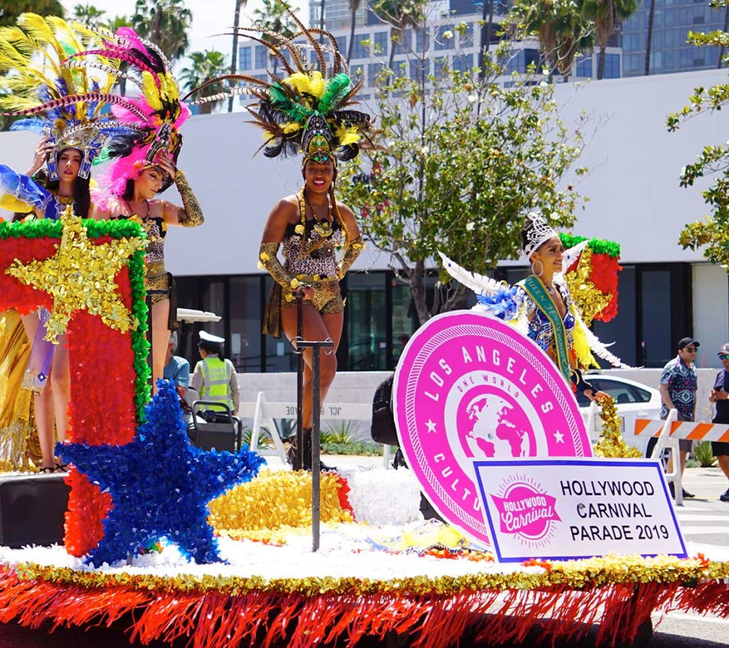 Carnival Queen float, Hollywood Carnival Parade, 06/29/19