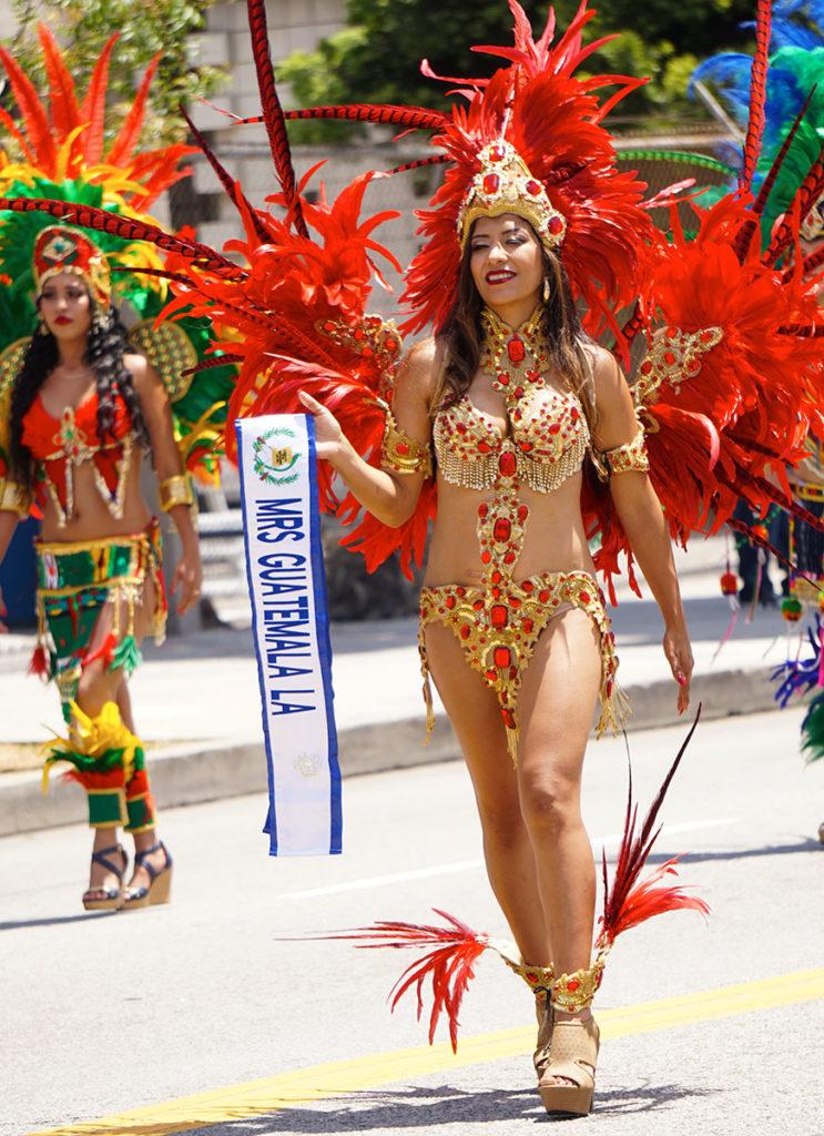 Mrs Guatemala, Hollywood Carnival Parade, 06/29/19