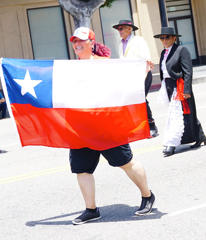 Chile Flag, Hollywood Carnival Parade, 06/29/19