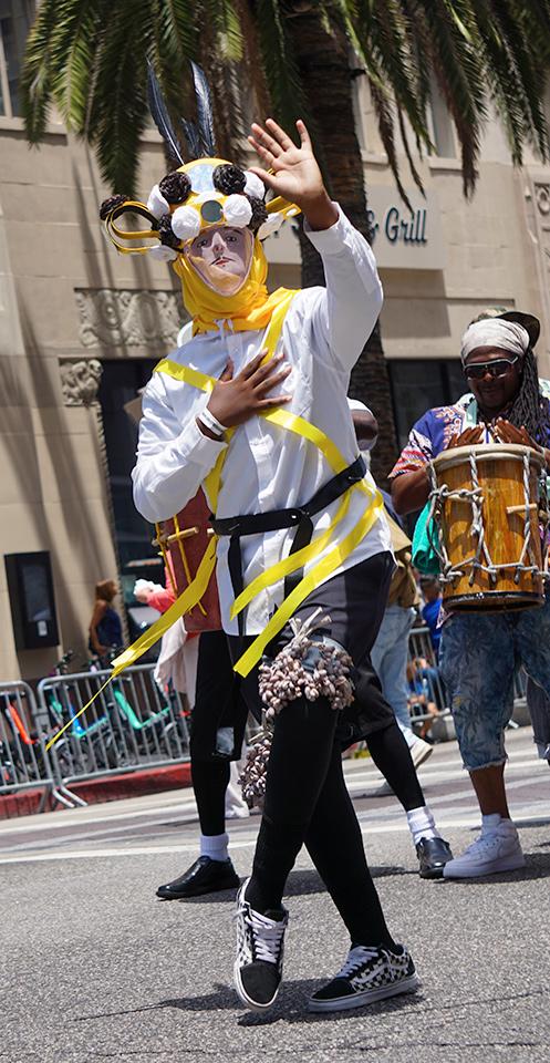 Garifuna traditional mask - Belize; Hollywood Carnival Parade; 06/29/19