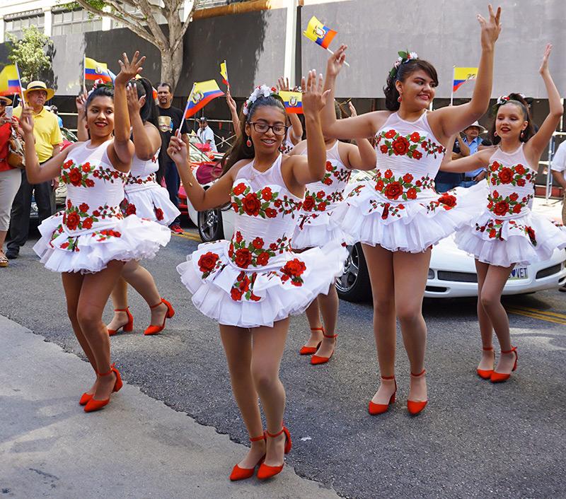 Ecuador Parade, Los Angeles, Los Angeles Latin Band 'Musica Sin Fronteras' 08/04/19