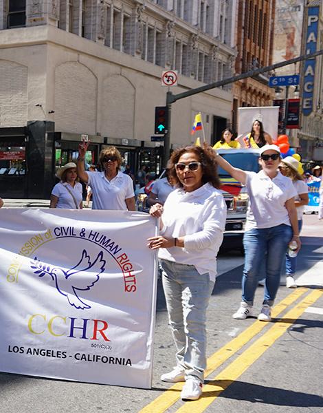 Ecuador Parade, Los Angeles, CCHR