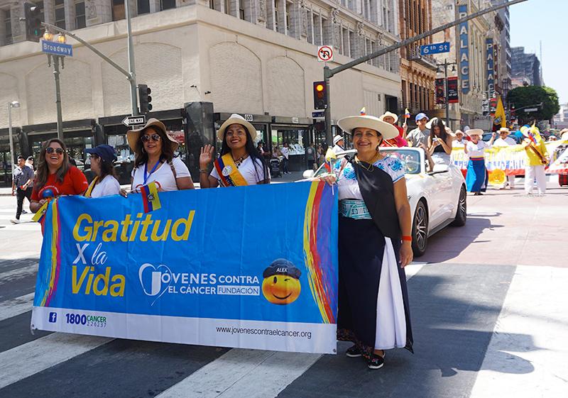 Ecuador Parade, Los Angeles, 08/14/19, Jovenes contra el cancer fundacion