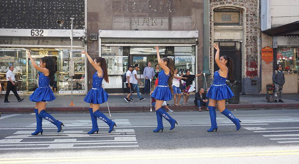 Ecuador Parade, Los Angeles, 08/04/19, Banda Azul y Blanco on Broadway