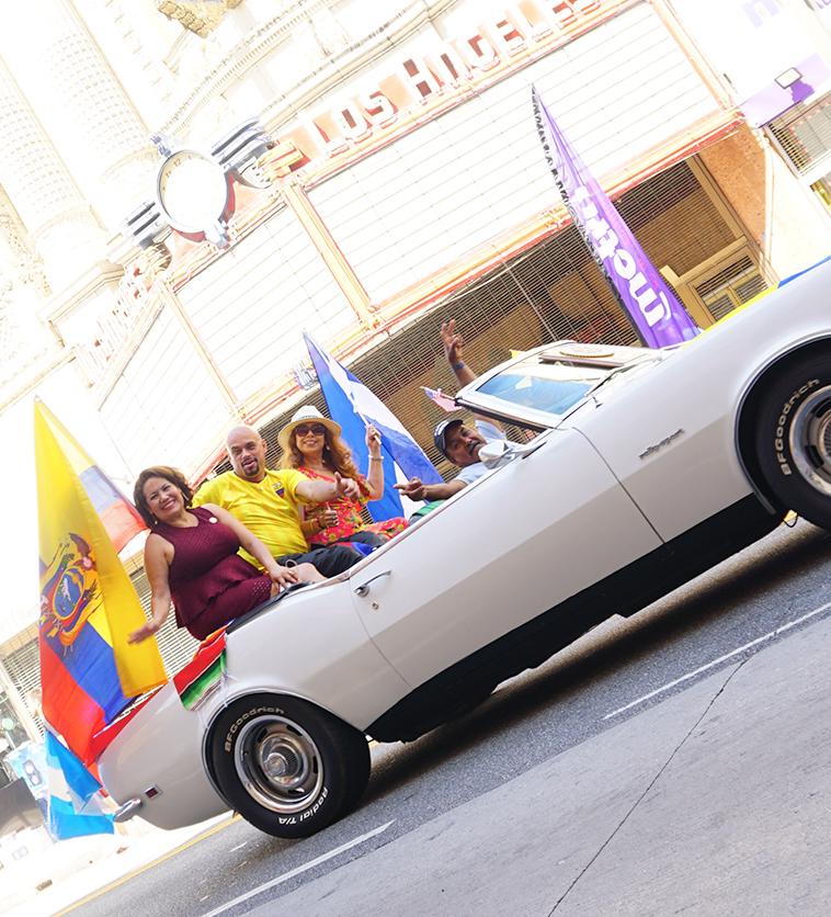 Ecuador Parade, Los Angeles, 08/04/19 Patty Lopez and friends