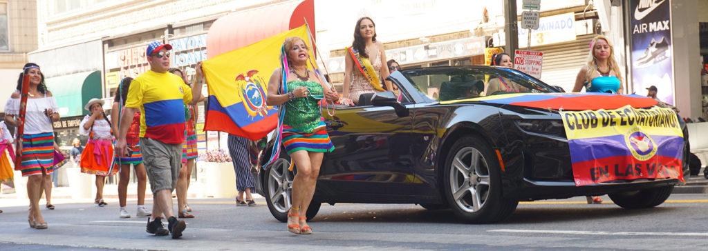 Ecuador Parade, Los Angeles, 08/04/19 Club de Ecuatorianos en Las Vegas