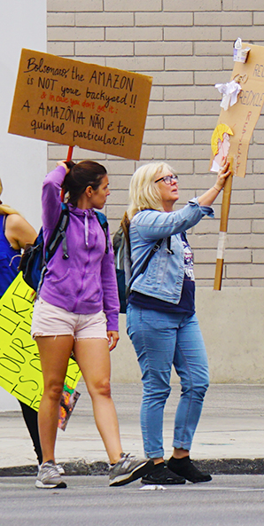 Global Climate Strike March at Consulate-General of Brazil in Beverly Hills, CA (09-27-19)-10