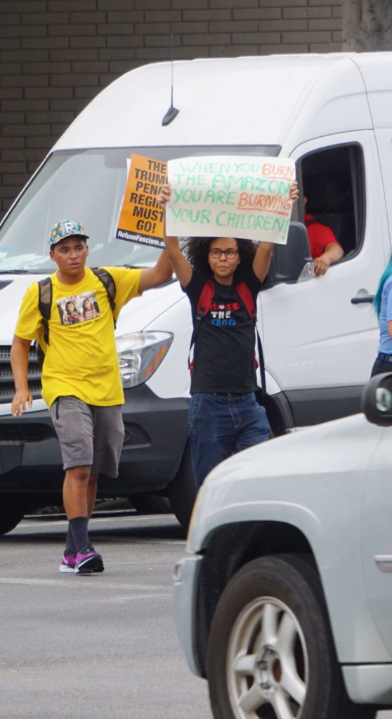 Global Climate Strike March at Consulate-General of Brazil in Beverly Hills, CA (09-27-19)-11