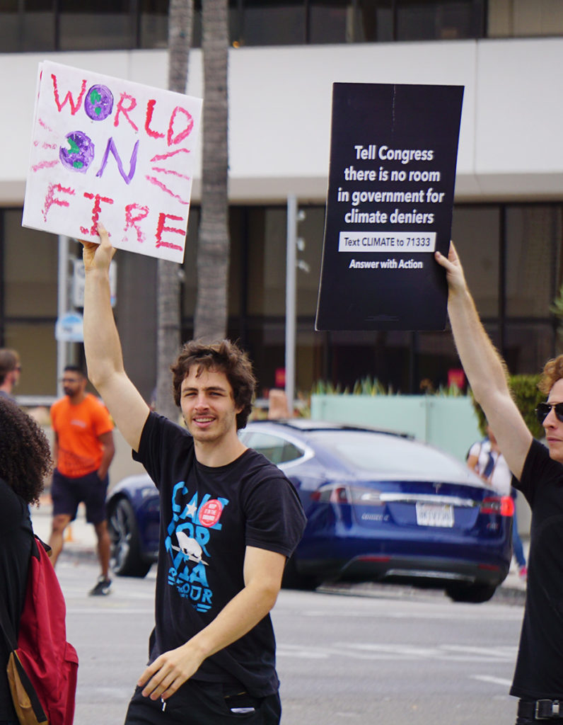 Global Climate Strike March at Consulate-General of Brazil in Beverly Hills, CA (09-27-19)-12