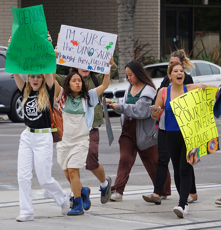 Global Climate Strike March at Consulate-General of Brazil in Beverly Hills, CA (09-27-19)-15