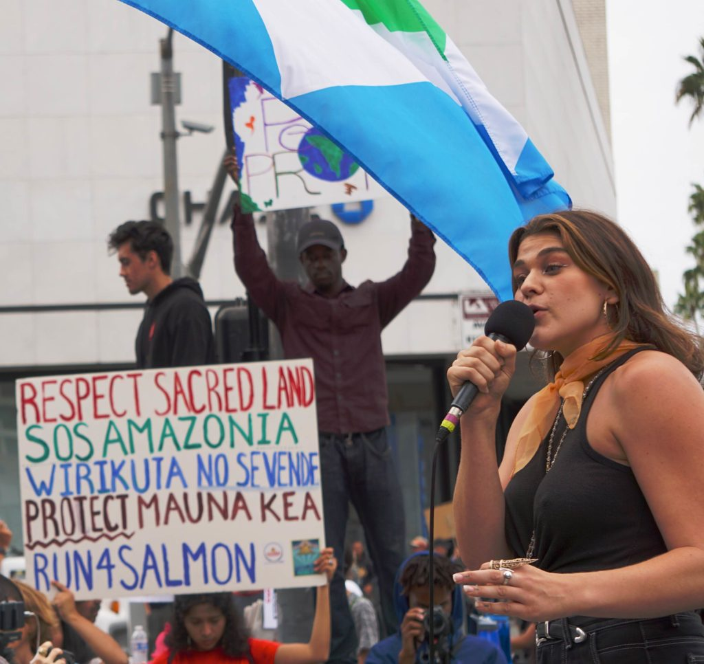Global Climate Strike March at Consulate-General of Brazil in Beverly Hills, CA (09-27-19)-23-maya rose