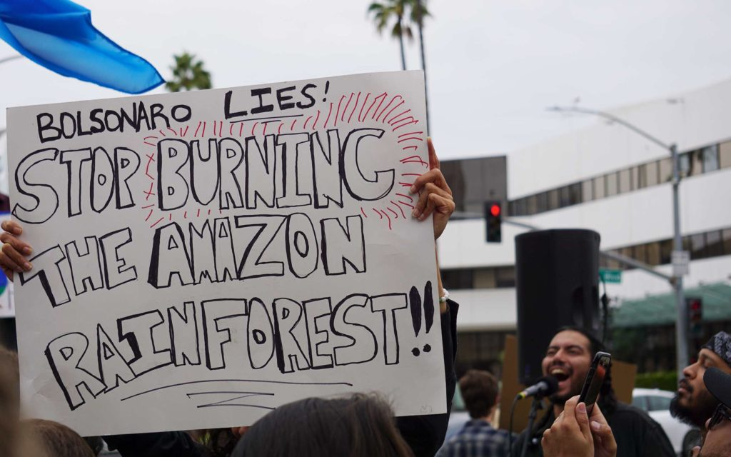 Global Climate Strike March at Consulate-General of Brazil in Beverly Hills, CA (09-27-19)-21