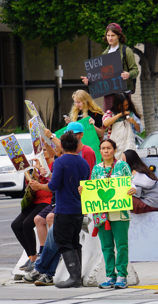 Global Climate Strike March at Consulate-General of Brazil in Beverly Hills, CA (09-27-19)-27