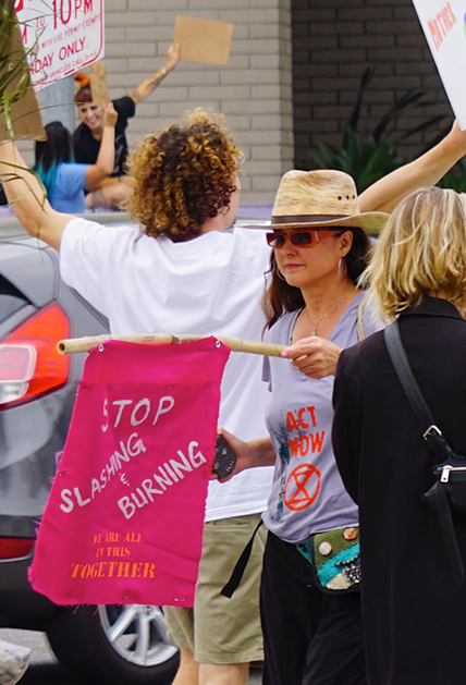 Global Climate Strike March at Consulate-General of Brazil in Beverly Hills, CA (09-27-19)-28