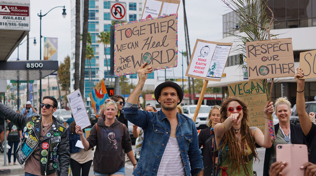 Global Climate Strike March at Consulate-General of Brazil in Beverly Hills, CA (09-27-19)-36