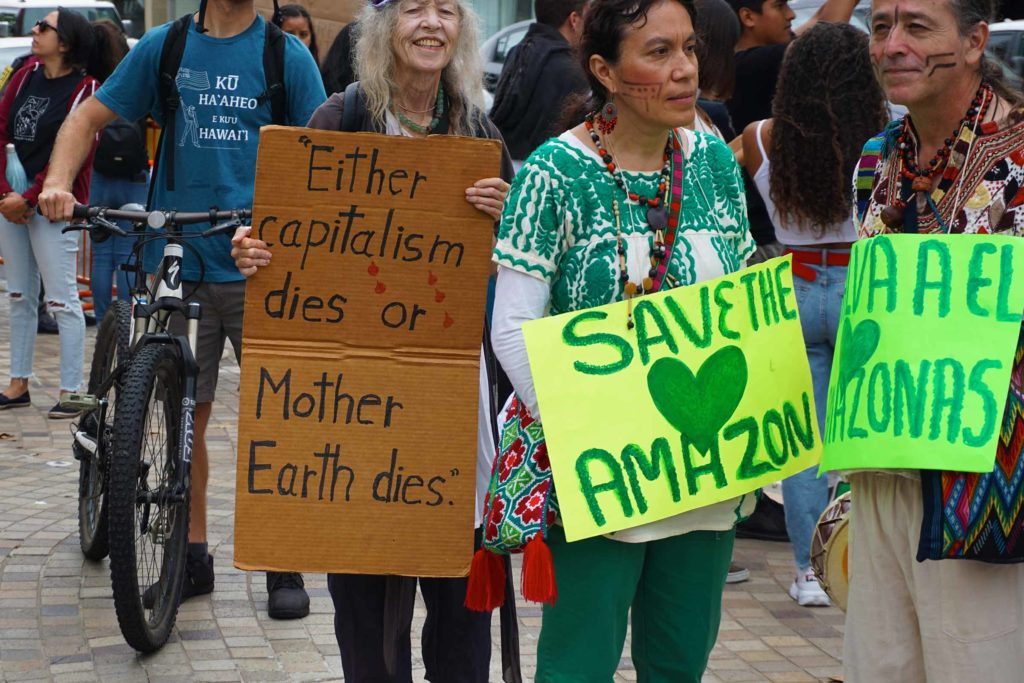 Global Climate Strike March at Consulate-General of Brazil in Beverly Hills, CA (09-27-19)-38