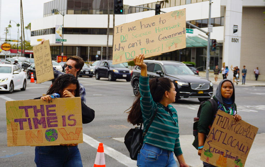 Global Climate Strike March at Consulate-General of Brazil in Beverly Hills, CA (09-27-19)-54