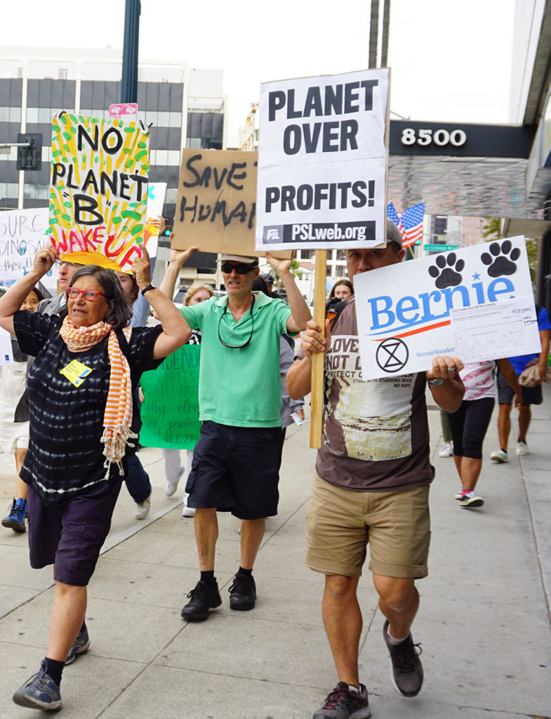 Global Climate Strike March at Consulate-General of Brazil in Beverly Hills, CA (09-27-19)-58