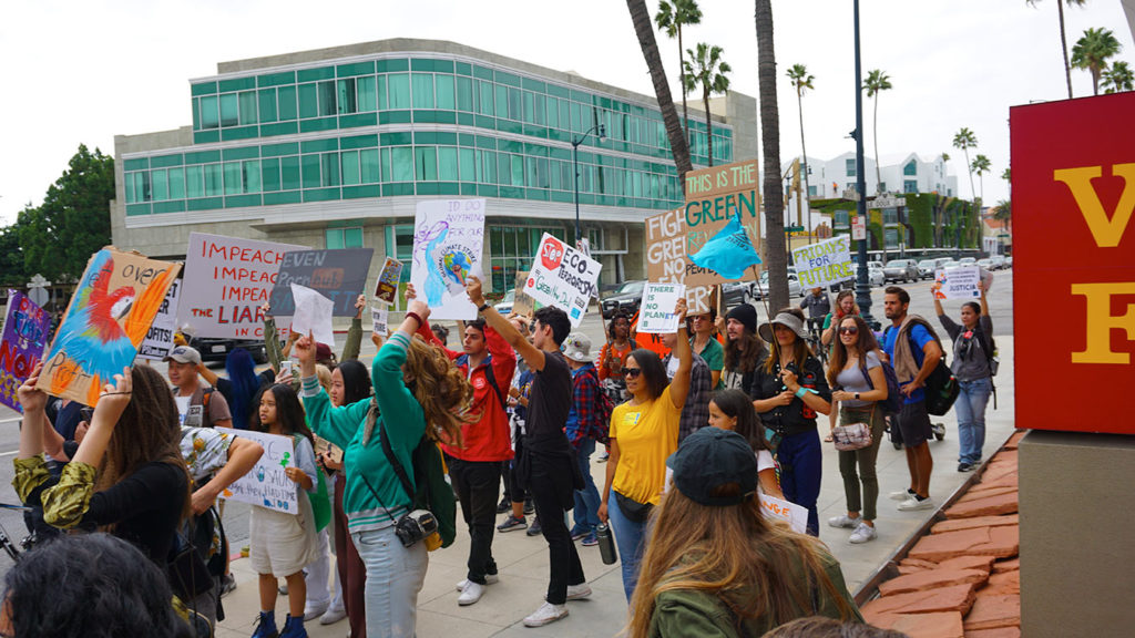 Global Climate Strike March at Consulate-General of Brazil in Beverly Hills, CA (09-27-19)-60