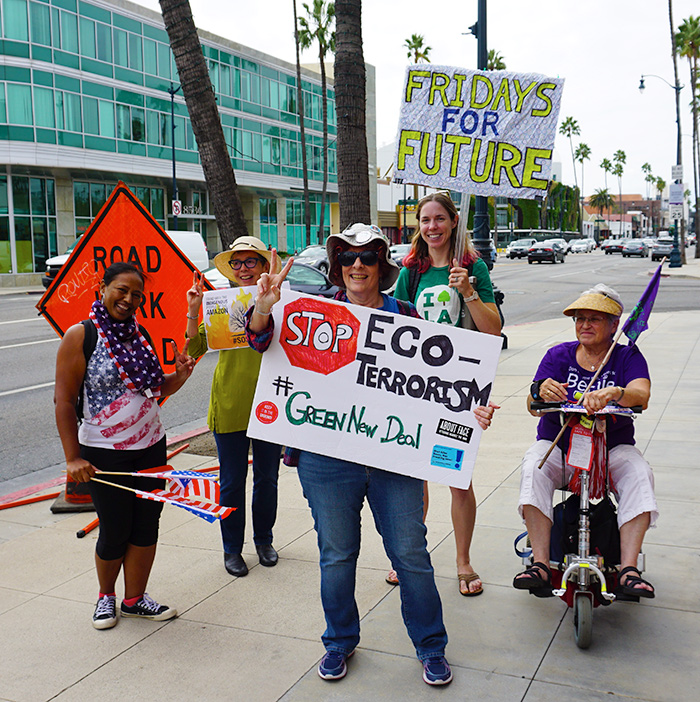 Global Climate Strike March at Consulate-General of Brazil in Beverly Hills, CA (09-27-19)-63