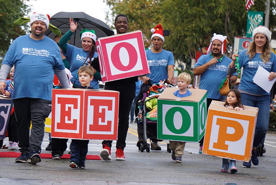 56th El Segundo Holiday Parade, El Segundo Co-op Nursery School (12-8-19)