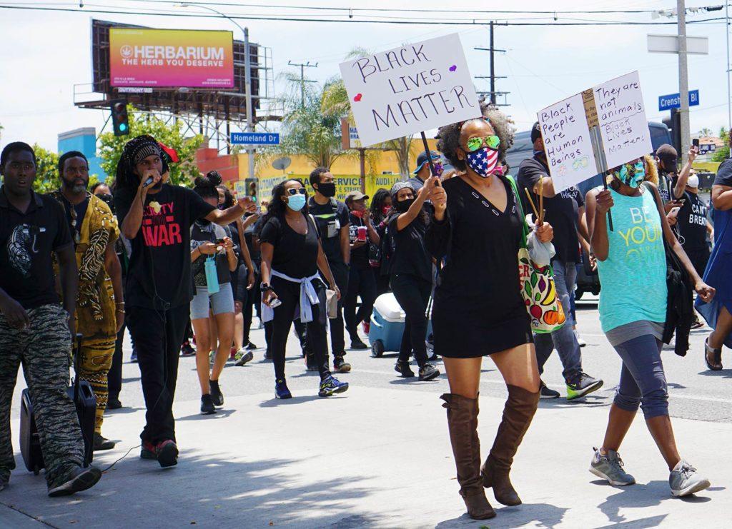 Leimert Park walk for justice, June 6, 2020