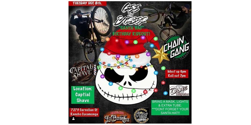 santa hat bike 2020