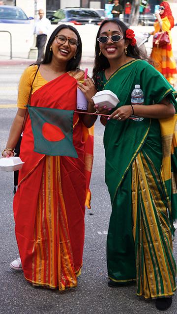Bangladesh Day Parade Los Angeles 2018-participants carrying Aladin biryani