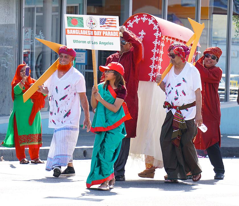 Bangladesh Day Parade, Los Angeles (2019) miniature palki (traditional marriage vehicle)