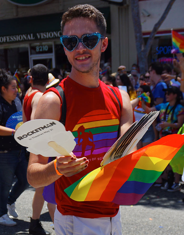LA Pride Parade-Rocketman-fan-swag