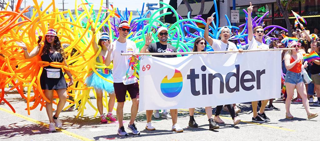 LA Pride Parade-Tinder App Banner