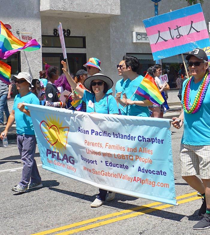 LA Pride Parade-PFLAG-API-San-Gabriel-Valley