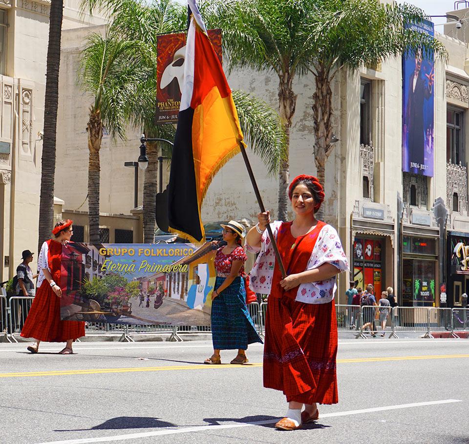 Guatemalan Pattern of dress; Hollywood Carnival Parade; 06/29/19