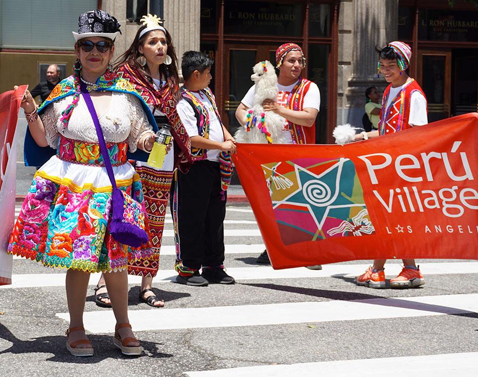 Peru Village participants, Hollywood Carnival Parade, 06/29/19