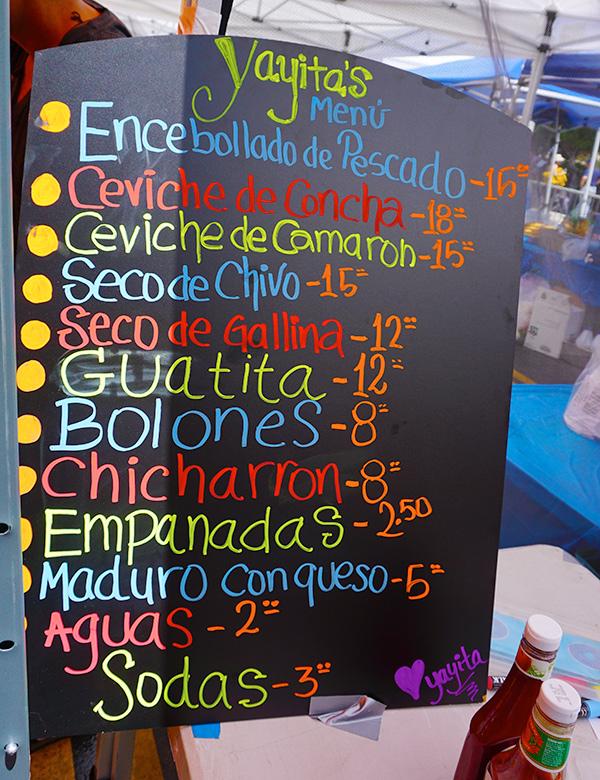 Taste of Ecuador Parade and Festival, Los Angeles, food booth 08/04/19
