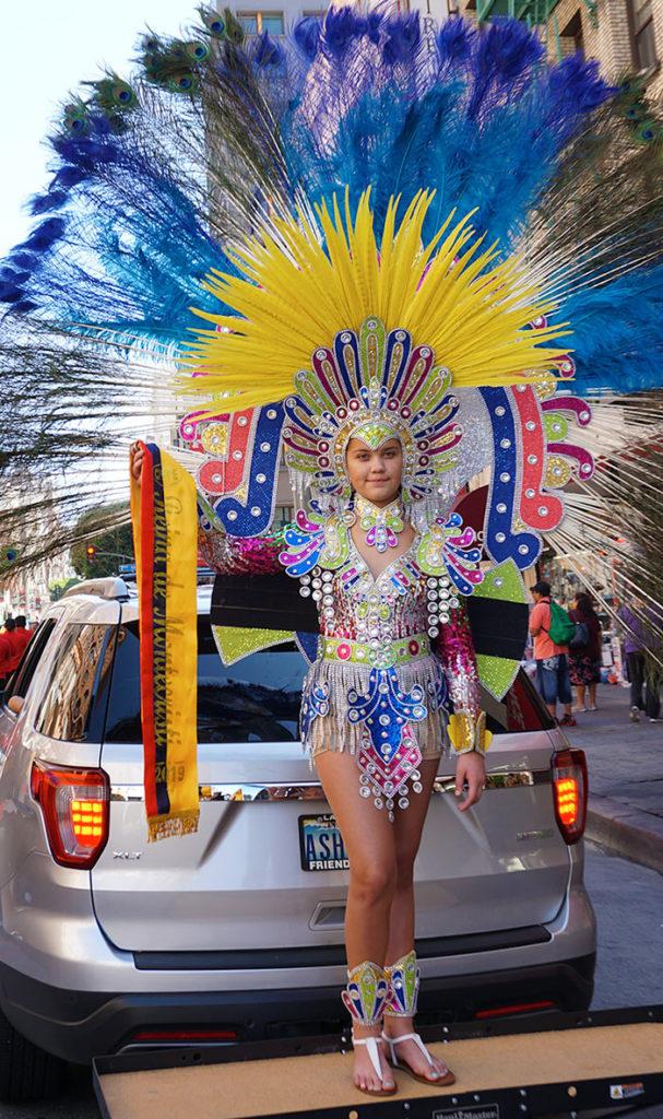 Ecuador Parade, Los Angeles, Ashley Galvez, CPFPE Reina de Monticristi, 08/04/19