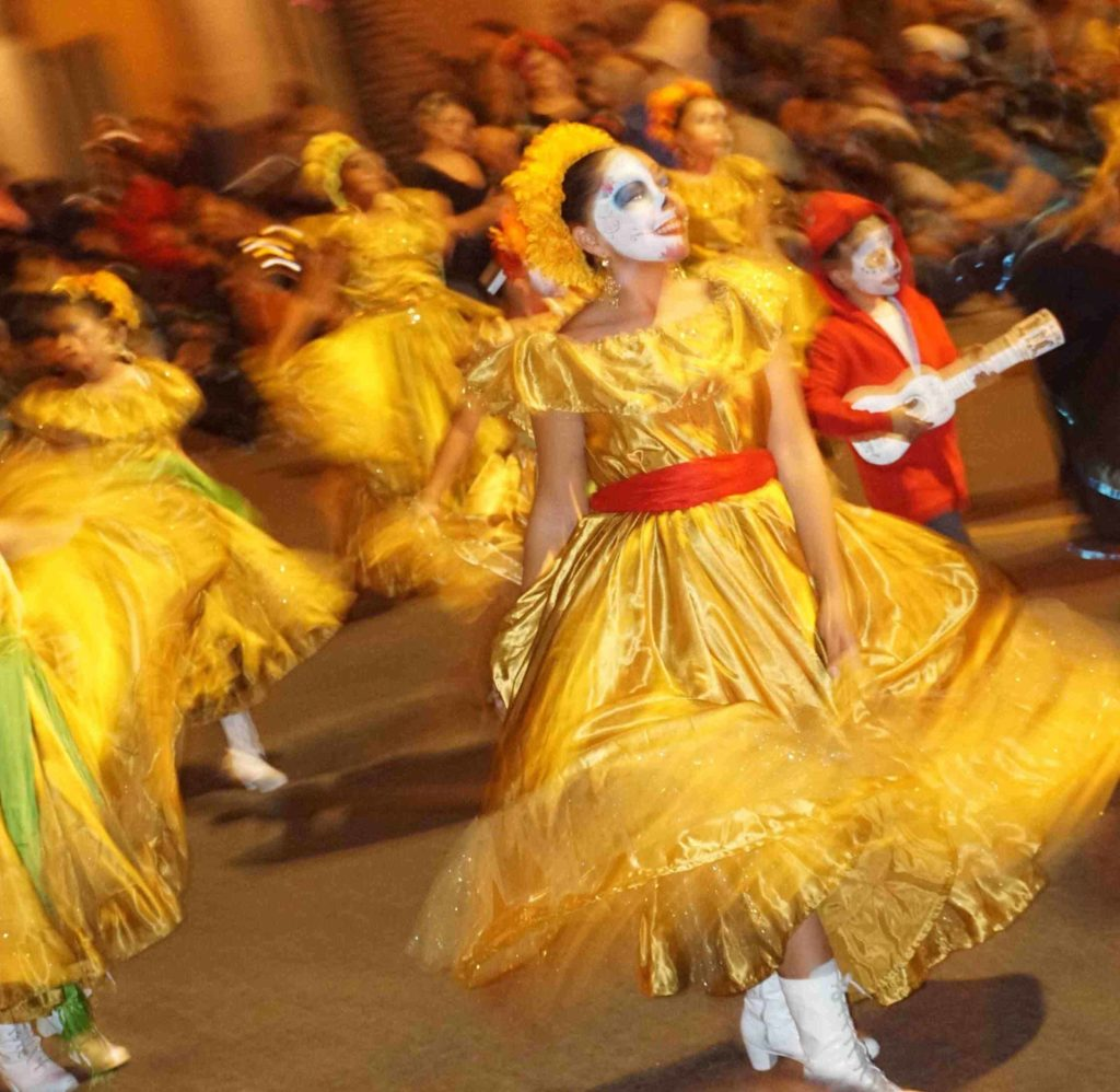 Anaheim Fall Festival-Halloween Parade, night time event, Ballet Folklorico Nueva Generacion (Anaheim, CA) 10-26-19
